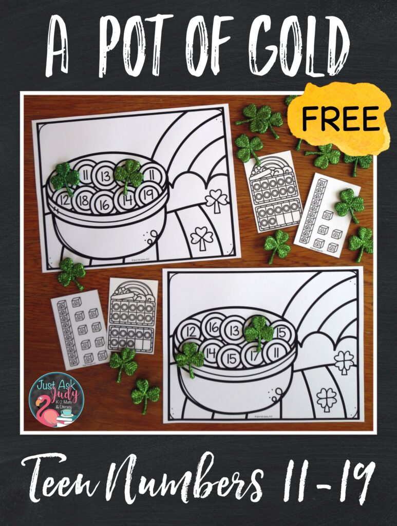 Let your kindergarteners have a little mischievous fun with this free St. Patrick's Day activity for teen numbers!