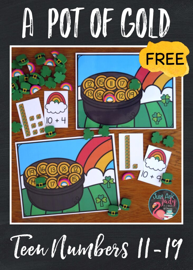 Click to download this free St. Patrick's Day activity. Give your kindergarteners practice with teen numbers while having a wee bit of fun!
