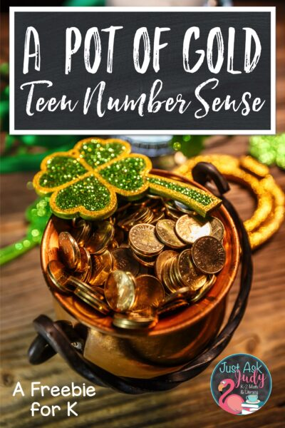 Need help teaching teen numbers? Find some tips and a St. Patrick's Day freebie that will help your kindergarteners make sense of those tricky numbers.