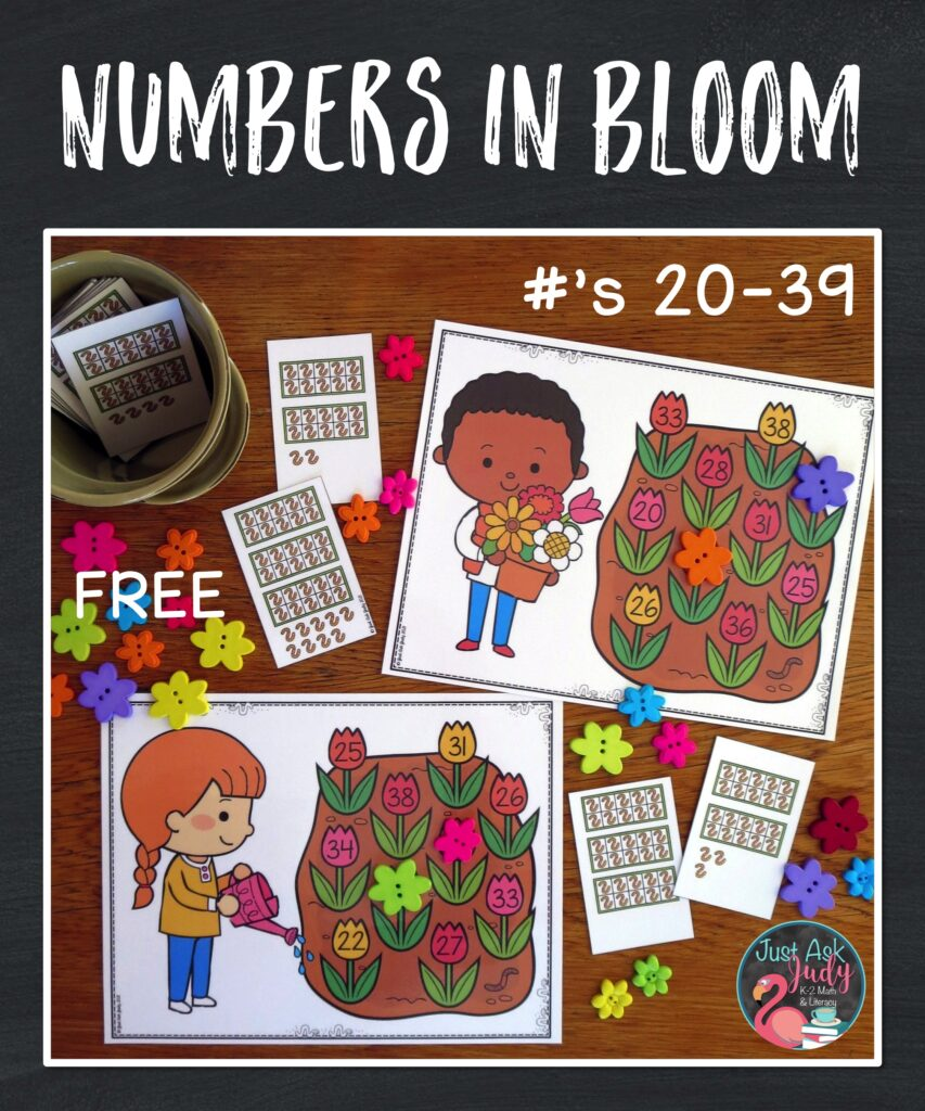 Download a free and engaging spring activity to give your kindergarten and 1st grade students practice with numerals in the twenties and thirties.