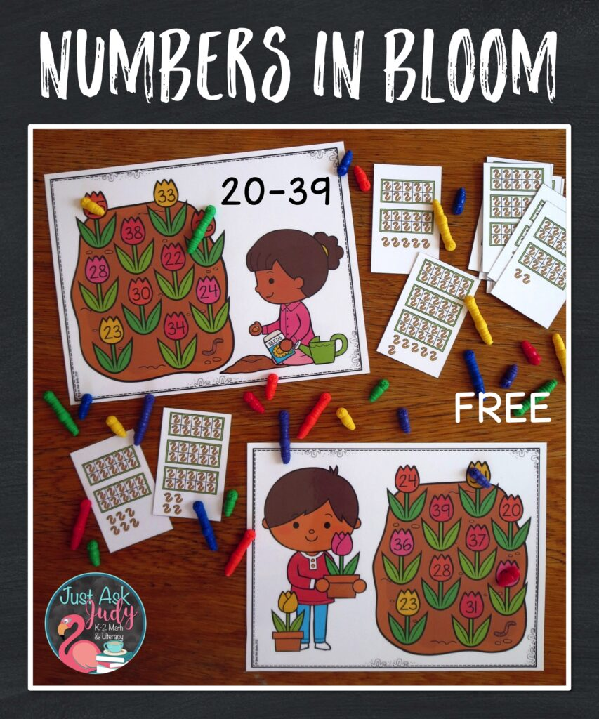 Let your kindergarteners and first graders have a little fun with this free spring-themed number activity!