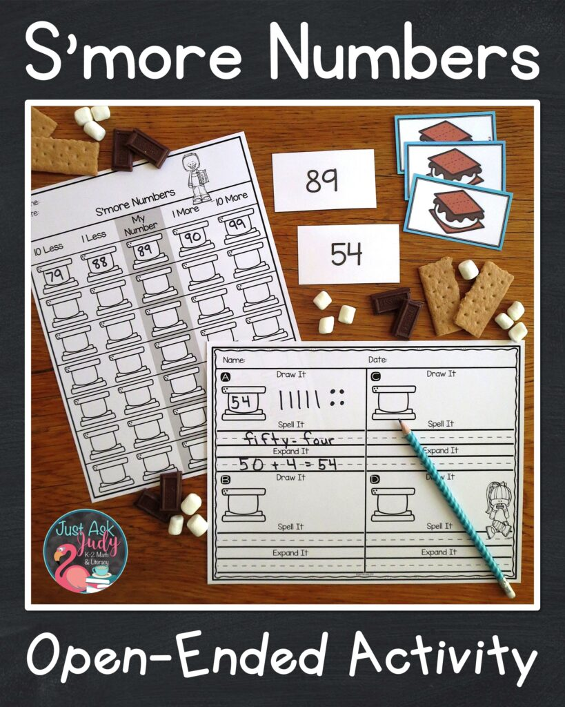 Use these open-ended math worksheets for two-digit numbers with your 1st and 2nd graders.
